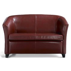 Cordoba Leather Love Seat ($600 - navy and burnt orange; also club chair to match same colors $300)
