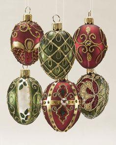 CHRISTMAS ORNAMENTS PETER PRIESS CHRISTMAS EGG; DECO BLACK//GOLD DIAMOND MOTIF