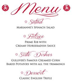My Holiday Dinner Menu...Including Foolproof Prime Rib! - One Good Thing by Jillee