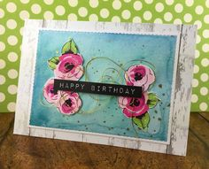 Happy Birthday with Altenew's Painted Flowers - card made by stef