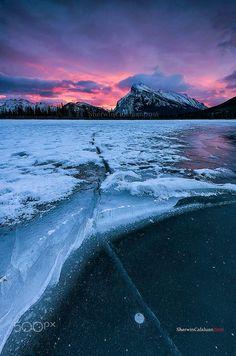 Crack in the Ice (Vermillion Lake, Banff, Alberta) by Sherwin Calaluan on 500px