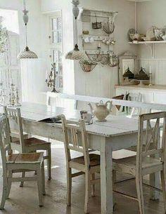I need this sunny bright kitchen
