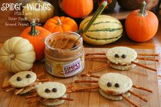 Spider-wiches with Peter Pan® Simply Ground Peanut Butter