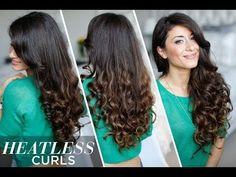 ▶ Heatless Curls Hair Tutorial - YouTube