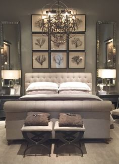 Sleek Silhouettes and Sharp Lines Perfect this Glamorous Grey Haven Bedroom