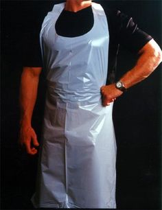 Idea for Leonard to wear a plastic apron in the act 2 torture scene. Disposable - more economical.