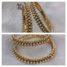 Traditional Pearl bangles - Online Shopping for Bracelets n Bangles by Saachi