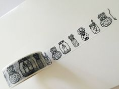 Coloring Jars and Vases Washi Tape by GoatGirlMH on Etsy