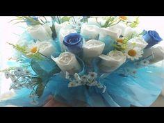 ❀Bouquet de pañales p/ Baby Shower / Baby diaper bouquet Baby Shower♥ ♥ - YouTube