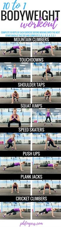 10 to 1 Bodyweight Workout