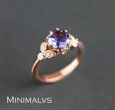 Tanzanite Engagement Ring Tanzanite Ring Rose Gold