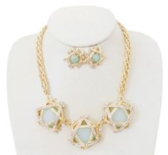 Multi Gem Collar Statement Necklace $38 * Earrings Sold Separately