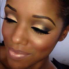 Pretty bridal shower makeup
