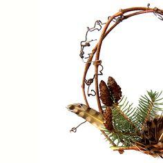 grape vine wreath with flicker feather (mary jo hoffman)