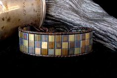 Leather Wrap Bracelet with Tila Beads by Day's Eye