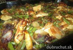 Fotorecept: Pečené morčacie prsia s fazuľkou a cibuľou