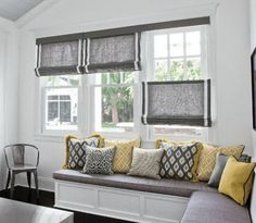 Roman Shades Bottom Up with Black Out
