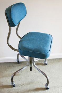 Vintage Typists Chair - Reupholstered by Makings & Doings