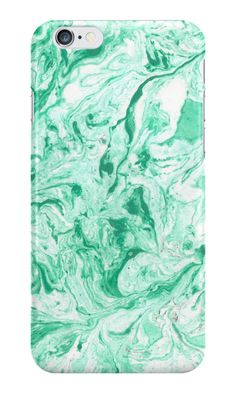 """""""Green marble texture"""" iPhone Wallets, Cases & Skins by Maria-So 