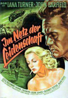 Lana Turner & John Garfield Movie Ad Promoting THE POSTMAN ALWAYS RINGS TWICE