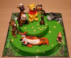 Winnie the Pooh cake. (sadly no recipe)