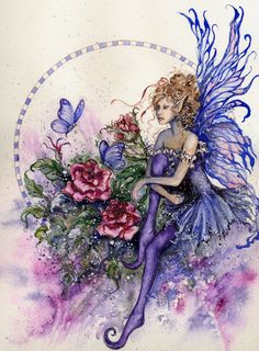 Fantasy and Sci-fi at their best. Fantasy Kunst, Fantasy Art, Elves And Fairies, Fairy Pictures, Butterfly Fairy, Beautiful Fairies, Flower Fairies, Fairy Art, Magical Creatures