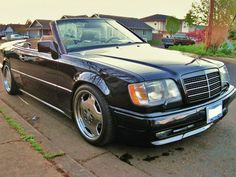 1994 Mercedes e320 convertible amg - Just feast your eyes on those large monoblock wheels!