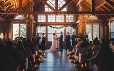 Indoor ceremony in the winter at Trillium Resort and Spa by Vaughn Barry Photography - Barrie, Muskoka indoorceremony Cold Wedding, Summer Wedding, Dream Wedding, Indoor Ceremony, Indoor Wedding, Wedding Poses, Wedding Venues, Wedding Ceremony, Wedding Ideas