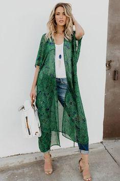 Adelpha Green Envy Kimono – Prilly swimwear summer swimwear for women swimwear beachwear bikini swimwear Kimono Outfit, Kimono Fashion, Boho Fashion, Fashion Outfits, Womens Fashion, Japan Fashion, Street Fashion, Bridal Fashion, Petite Fashion