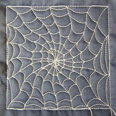 Spider Web free motion filler design