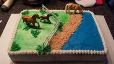 Horse sheet cake