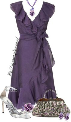 A fashion look from April 2013 featuring Drome, Manolo Blahnik sandals and Dolci Gioie rings. Browse and shop related looks. Pretty Outfits, Pretty Dresses, Beautiful Dresses, Cute Outfits, Dress Outfits, Fashion Outfits, Womens Fashion, Frack, Purple Fashion