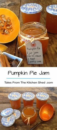 Whizz up your pumpkin innards and make Pumpkin Pie Jam. Laced with pumpkin pie spice and a touch of ginger, a taste of Autumn all year round! Great with cheese, use as an ingredient in your baking & make pumpkin pie, cupcakes, muffins or cookies. Pumpkin Jam, Pumpkin Pie Spice, Pumpkin Pie Jam Recipe, Recipes With Pumpkin, Pumpkin Jelly, Pumpkin Pie Cupcakes, Pumpkin Uses, Vegan Pumpkin, Recipes