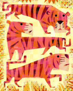"Gareth Lucas on Instagram: ""Happy Tiger Tuesday! …(these tigers are happy on the inside😊) … .. . #tiger #tigerlove #eyeofthetiger #tigersofinstgram #illustrator…"" Tiger Love, Tiger Art, Tigger, Disney Characters, Fictional Characters, Illustration, Happy, Animals, Tuesday"