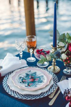 European-inspired patterned dinnerware: http://www.stylemepretty.com/destination-weddings/2017/01/27/a-winter-elopement-in-one-of-the-prettiest-spots-on-the-planet/ Photography: Lilly Red - http://www.lillyred.it/