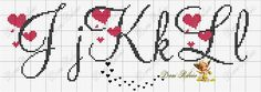 Ideas embroidery patterns free letters cross stitch for 2020 Cross Stitch Letters, Cross Stitch Borders, Cross Stitch Baby, Cross Stitch Designs, Cross Stitching, Cross Stitch Embroidery, Embroidery Alphabet, Embroidery Patterns Free, Embroidery Fonts
