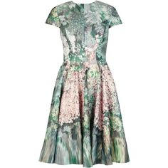Ted Baker Dixee glitch floral print dress ($225) ❤ liked on Polyvore featuring dresses, cinderella, orange, women, floral dresses, floral print dress, fit flare dress, orange floral dress and fit and flare dress
