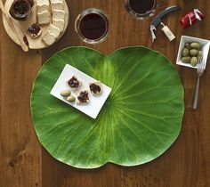 BaliHai Tropical Leaves Table Top Coaster Table Runner - zillymonkey