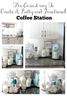 The Easiest Way To Create A Pretty Functional Coffee Station