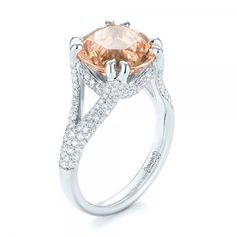 Custom Morganite and Diamond Engagement Ring | Joseph Jewelry | Bellevue | Seattle | Online | Design Your Own Ring