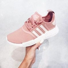 best loved 64556 a0a46 Shoes pink, white, adidas, adidas shoes, sneakers, adidas nmd,