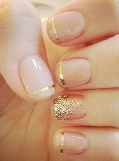 I usually like to keep the French mani on my nails, but I actually REALLY love this! New Years Eve Nails??!!!  I think soooo ;)