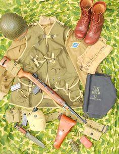 D-Day US Ranger uniform and equipment