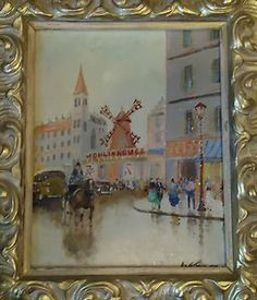 American Artists List Oil Paintings | ART-DECO-IMPRERSSIONIST-PARIS-MOULIN-ROUGE-OIL-PAINTING-AMERICAN ...