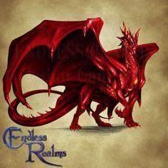 Endless Realms bestiary - Ruby Dragon by jocarra on DeviantArt