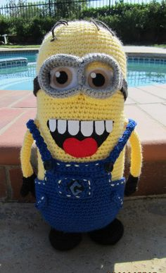 Crochet minion doll with removable accessories