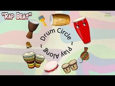 Drum Circle Rap Beat - Play Along Video (Regular Speed) Drums Beats, Rap Beats, Music Ed, Music Wall, Bucket Drumming, Elementary Music Lessons, Future Music, Homemade Instruments, Minecraft Crafts