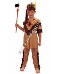 Disfraz Divertido de Indio para niños. #Disfraces #Carnaval www.casadeldisfraz.com