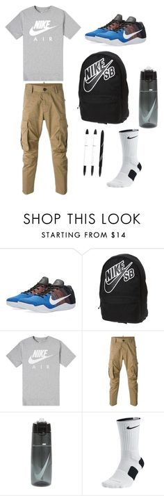 """""""Gabe"""" by sophiaconant ❤ liked on Polyvore featuring NIKE, Dsquared2, men's fashion and menswear"""