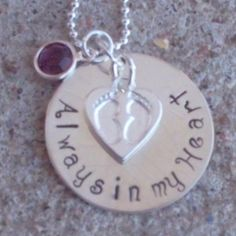 always in my heart / infant loss / remembrance jewelry - $20